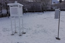 Suelo cubierto de nieve.